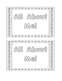 All About Me! booklet