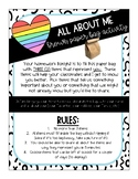 All About Me brown paper bag activity for Back to School /