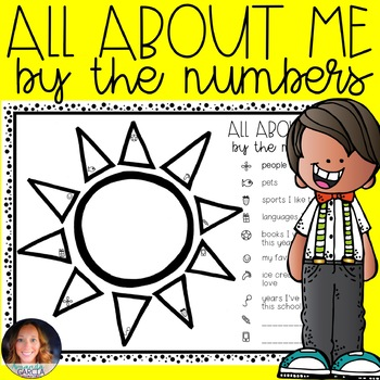 All About Me by the Numbers! FREE