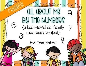 All About Me by the Numbers {a class book FREEBIE}