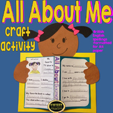 All About Me craft activity (British English)