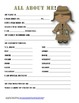 """""""All About Me"""" detective themed student questionnaire"""