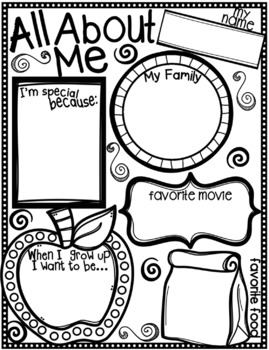 All About Me for Back to School {Texas Twist Scribbles}