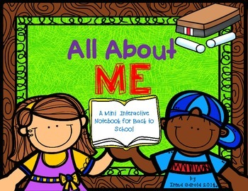 All About Me - for an interactive notebook