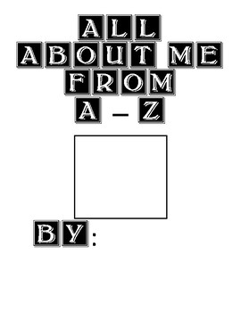 All About Me from A-Z!