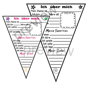 All About Me german ich ueber mich