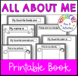 All About Me half page book