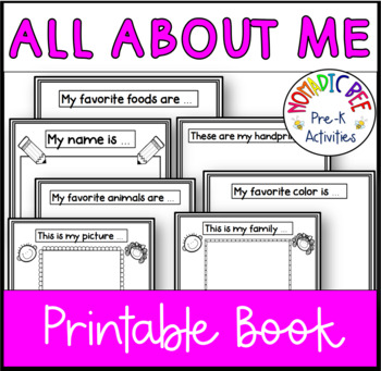 graphic regarding All About Me Book Preschool Printable referred to as All Relating to Me printable ebook