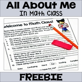 All About Me in Math Class (FREE)