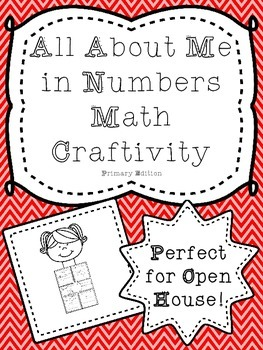 All About Me in Numbers Math Craftivity Primary Edition