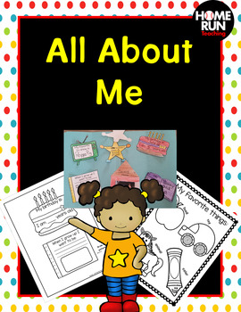 All About Me lapbook and booklet-back to school