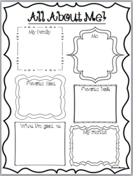 All About Me poster pages!