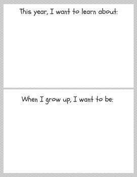 All About Me: printable PDF book pages