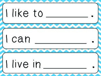 All About Me - sentence flashcards