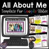 All About Me for Google Slides