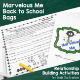 Back to School Ideas~All About Me Bag Activities