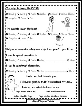 Back to School Student Survey (Emotional, Social, Environmental  Needs Survey)
