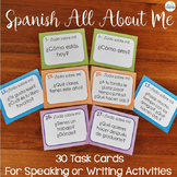 Spanish Task Cards All About Me