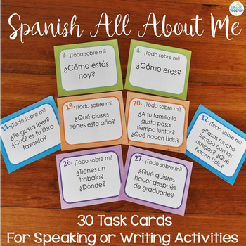 All About Me/Get to Know Your Classmates Spanish Question