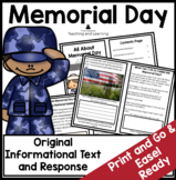 All About Memorial Day: An Informational Text Interactive Reader