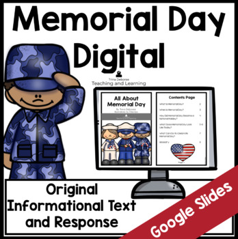 All About Memorial Day Using Google Slides: Paperless Digital Version