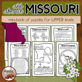 All About Missouri Puzzle Mini-Book for Upper Elementary