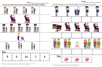 Math and Literacy Cut and Paste Activities, Mother's Day, Special Education