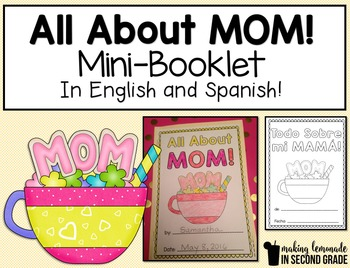 All About Mom ~ Mother's Day Mini-Booklet in English and Spanish