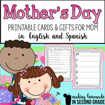 Mother's Day Activities in English and Spanish