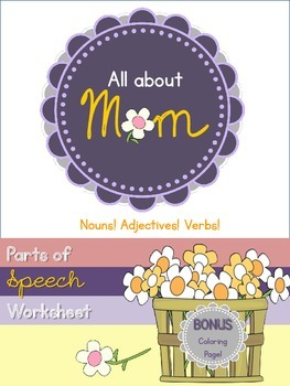 All About Mom {Parts of Speech Activity}