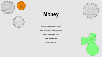 All About Money.. Common Core Activties Bundle