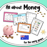 All About Australian Money for Beginners - Maths Templates and Activities Pack