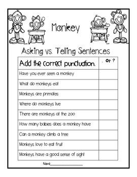 Monkeys....An Informational Text Unit