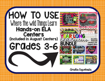 All About Monthly ELA Centers {Preview}