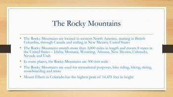 All About Mountains Unit