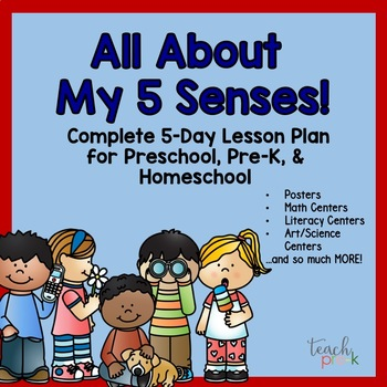 All About My 5 Senses! 5-Day Lesson Plan for Preschool, Prek, & Homeschool