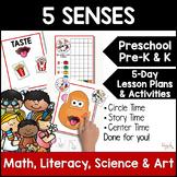 All About My 5 Senses! 5-Day Lesson Plan for Preschool, Prek, & Homeschool