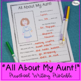All About My Aunt! Printable