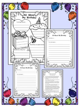 All About My Birthday: Poster, Activity, Reading, Writing