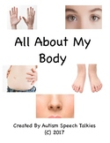 All About My Body: An Adapted Book About Your  Body. Includes worksheet, board
