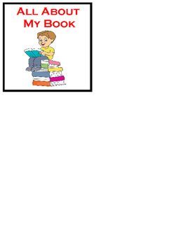 All About My Book Visual Prompt To Retell Story