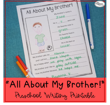 All About My Brother! Printable