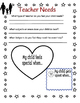 All About My Child - Parent Homework Activity for getting to know your students