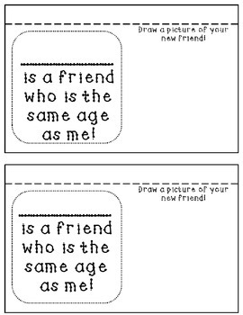 All About My Classmates Flip book ~ Back to School