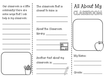 All About My Classroom: A Trifold Brochure for Back to School