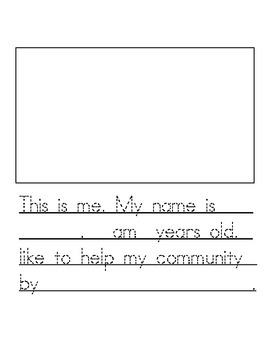 All About My Community Writing