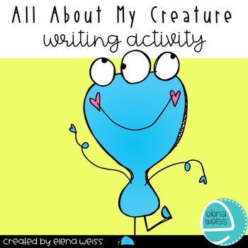 All About My Creature Writing Activity