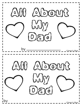All About My Dad---A Book for Father's Day