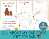 All About My Dad Book, Father's Day/Birthday Gift, Printab