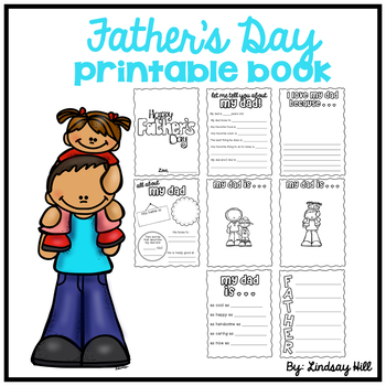All About My Dad Father S Day Printable Book By Lindsay Hill Tpt